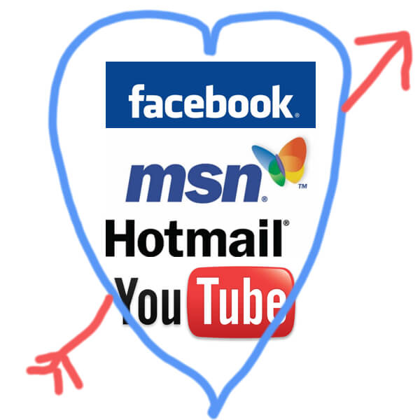 Facebook Hotmail Youtube